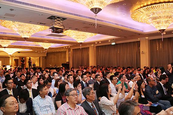 「亚太黄金半世纪」研讨会会场座无虚席,在场观众认真聆听演讲