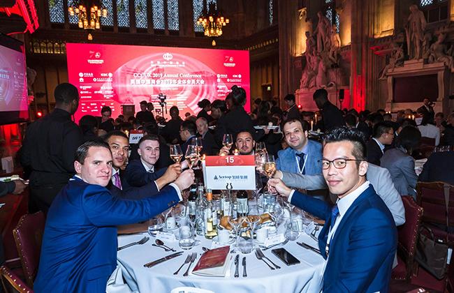 领峰集团成员预祝英国中国商会2019全体会员大会圆满举行